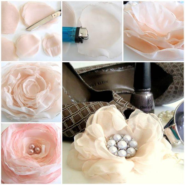 DIY Delicate Chiffon Flower  https://www.facebook.com/icreativeideas