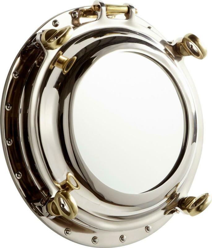 Seeworthy Wall Mirror Cyan Design Nickel Mirrored Glass Aluminum 190808087690 Ebay In 2020 Mirror Wall Round Wall Mirror Cyan Design