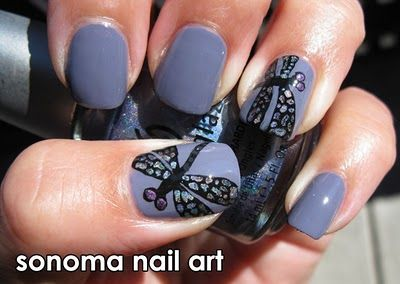 Purple Dragonflies Manicure by Sonoma Nail Art - 66 Best Dragonfly Nail Designs Images On Pinterest Pretty Nails