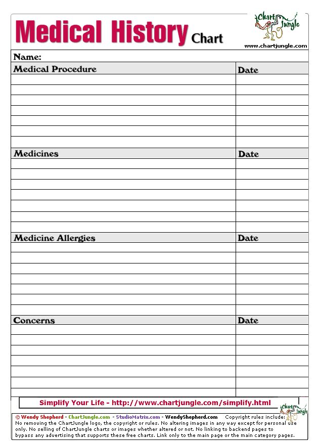 13 best Medical Forms images on Pinterest Daily planners - free medical form