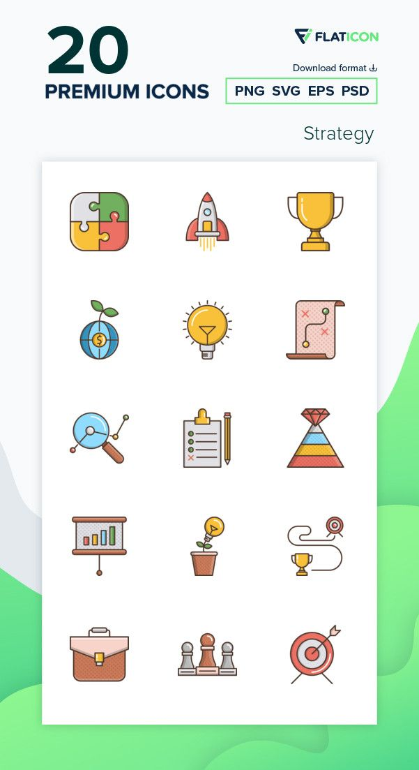 20 Premium Vector Icons Of Strategy Designed By Cubydesign Icon Vector Icons Icon Pack