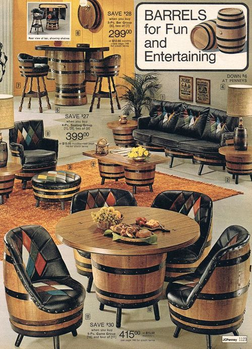 Barrel furniture from J C Penney, 1975. Any still around?