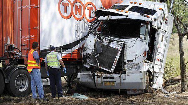 Truck crash video - http://goo.gl/CKltAW