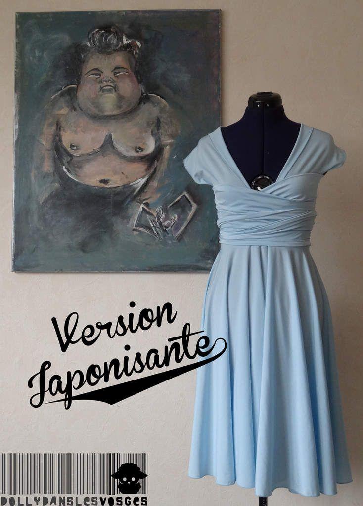 Infinity dress... Encore! - Dolly dans les Vosges | C'est la forme que j'ai porté pour le mariage. Il nécessite de porter un bustier en-dessous, car les bretelles autour de la poitrine glissent !