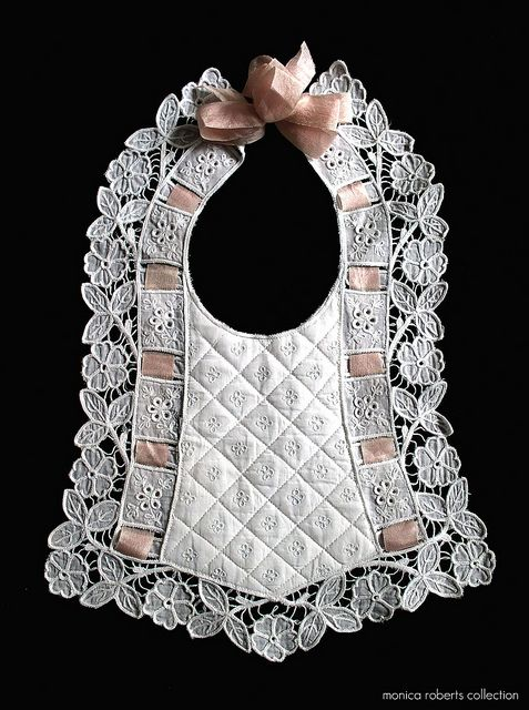 FRENCH VICTORIAN BABY BIB (bavoir) ... ca. 1880 Photo Monica Roberts Collection