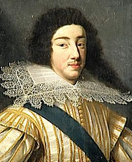 Gaston, Duke of Orléans (1608-1660), was the 3d son of King Henry IV of France and his wife Marie de Medici. As son of the king, born a Fils de France. Later the Duke of Orléans, by which title he was known during his adulthood. As eldest surviving brother of King Louis XIII, known at court by the traditional honorific Monsieur. 2x gt grandson Juana la Loca and Philip the Handsome thru maternal grandmother Johanna of Austria.