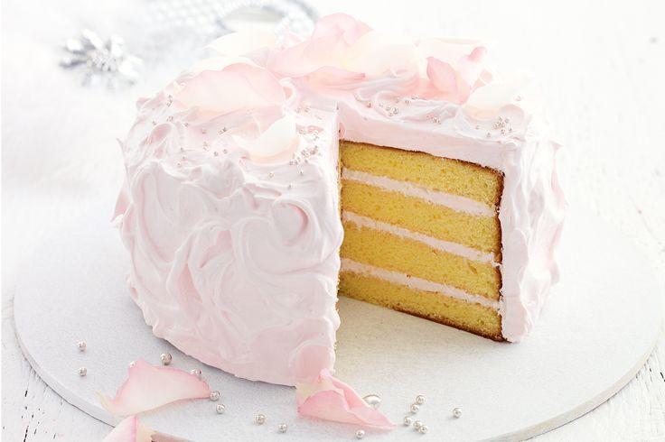 Rose petal cake #wedding http://www.taste.com.au/recipes/27721/rose+petal+cake
