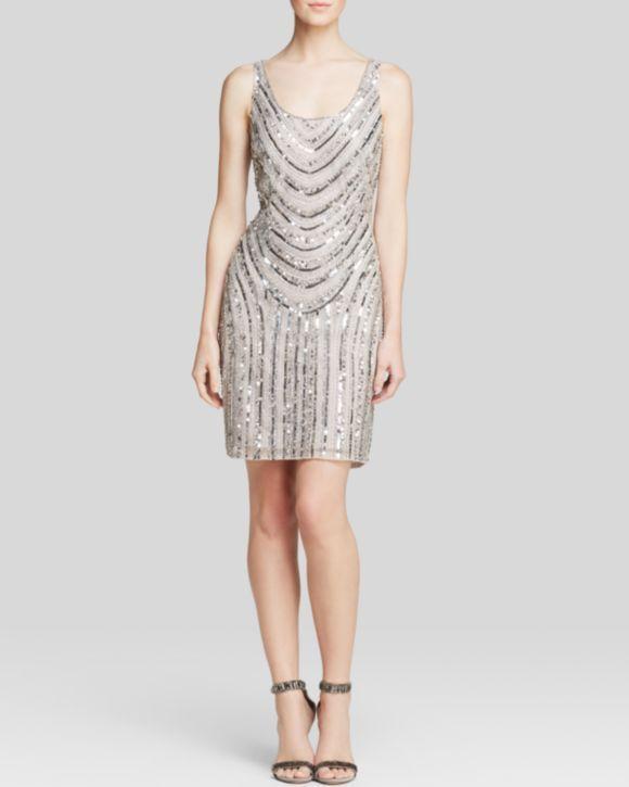 Dress Sleeveless Scoop Neck Beaded Bloomingdales 39 S Bridesmaid