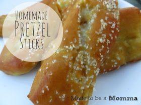 Made to be a Momma. : Homemade Pretzel Sticks