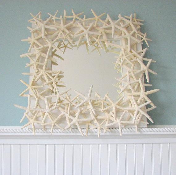 Beach Decor Starfish Mirrorby beachgrasscottage