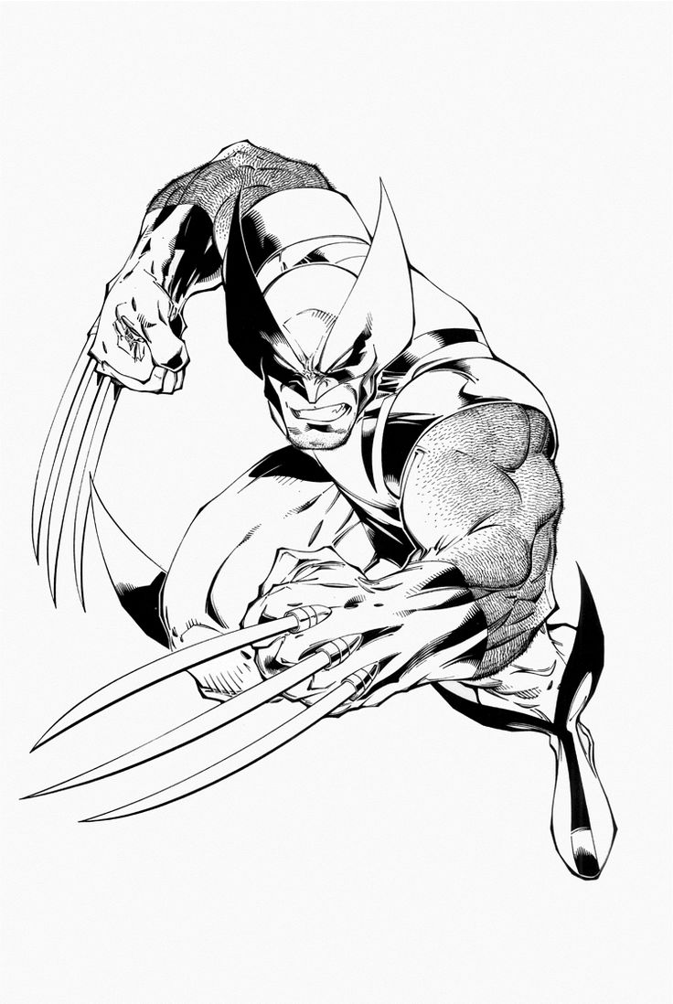 superhero coloring printouts : Wolverine Coloring Pages Pictures