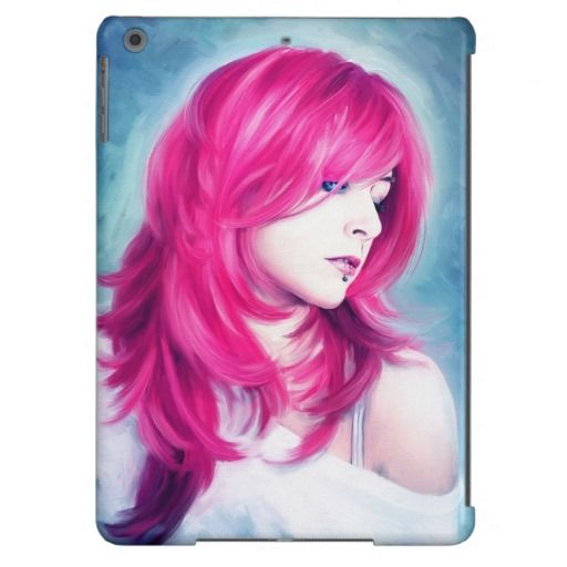Pink Head sensual lady oil portrait painting iPad Air Covers