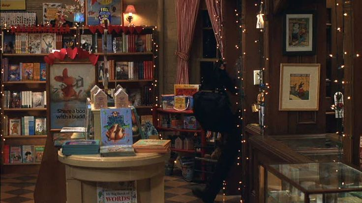 The Shop Around the Corner, decorated for Christmas - from 'You've Got Mail' (1998)