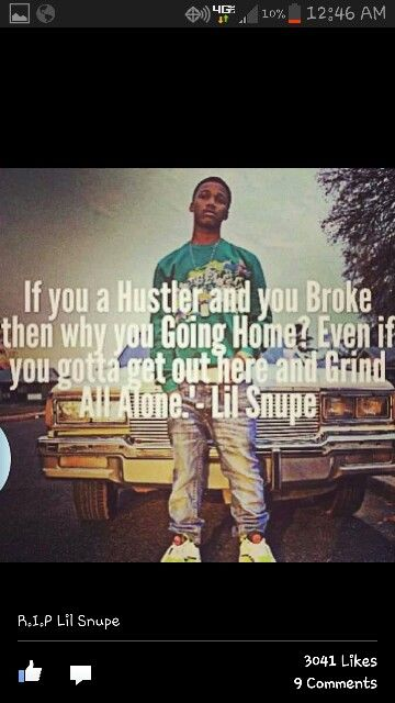 Rip lil snupe