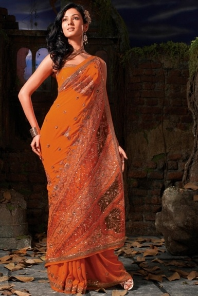 orange with embroidery