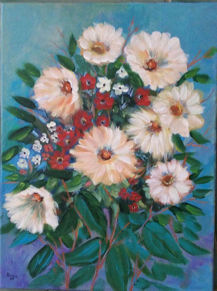 acrilico su tela cm 40x30  artista Dana Mincione