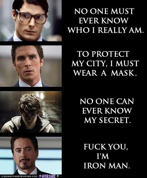Funny Pictures - Tony Stark Doesn't Give a Fuck, and that's why I love him :)