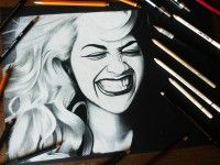 Drawing pencils Rita Ora