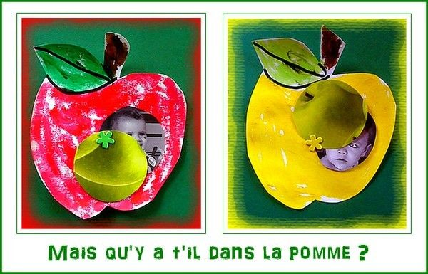 Pomme rouge, pomme jaune....