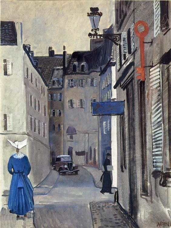 Saint Germain, Paris, Alexander Deineka. Russian (1899 - 1969)