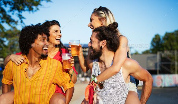 Happy Group Of Friends Having Fun Travelling And Smiling Group Of Friends Have Fun Travel Fun