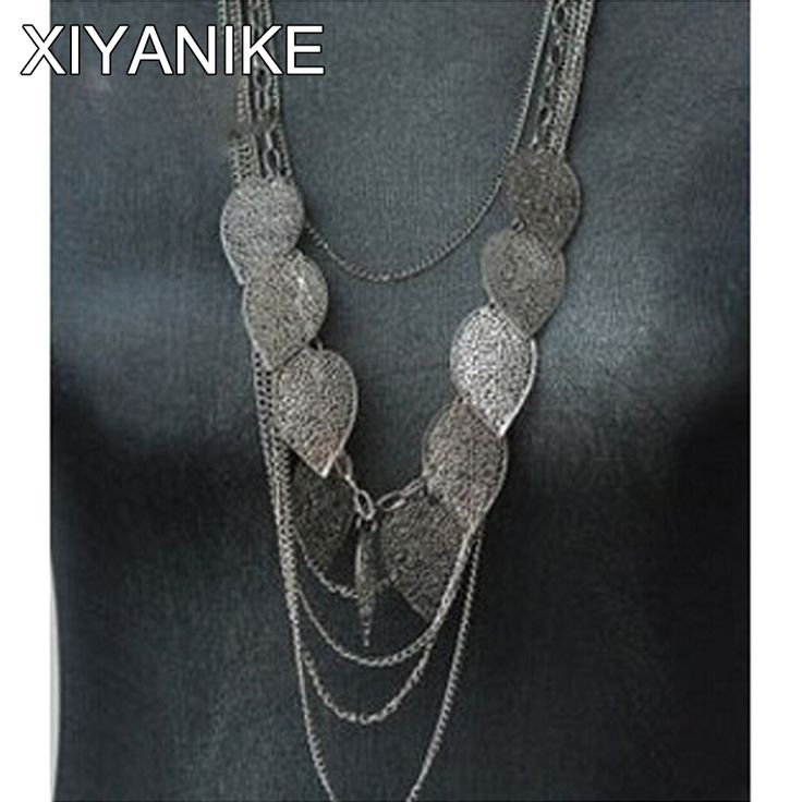 2014 New!! HOT!!!European and American style, leaves multilayer Bohemia long necklace XY-N25 N30 N31