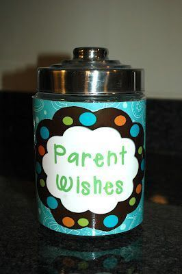 At open house parents put their wish for the year in it. I love this idea!