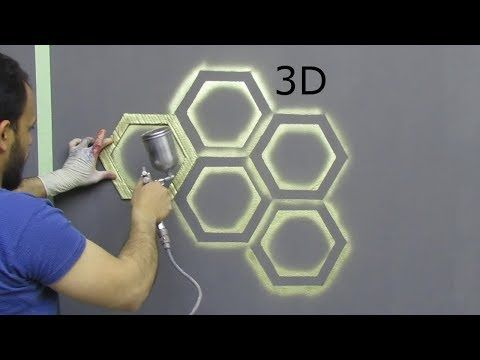 بقطعة كرتون اصنع بنفسك ديكور خلية النحل ثري دي Youtube Wall Art Diy Paint 3d Wall Painting Wall Paint Designs
