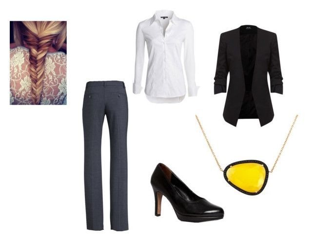 Work clothes by ramadiii on Polyvore featuring polyvore fashion style NIC+ZOE Theory Paul Green Christina Debs clothing
