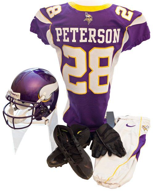 MVP to HOF. @Minnesota Vikings RB Adrian Peterson's uniform now part of our collection. Click image for details.