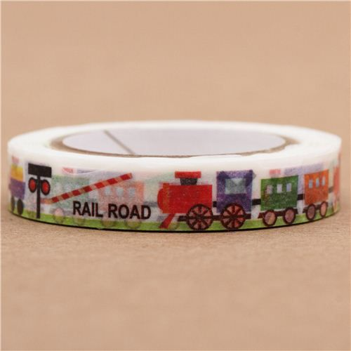thin die-cut toy train Masking Tape deco tape from Japan - other cute Tapes - Deco Tapes - Stationery - Kawaii Shop modeS4u