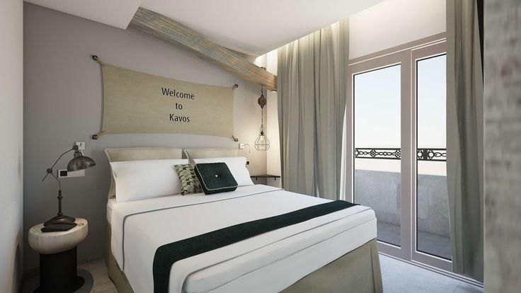 Kavos Junior Suite - Bedroom, Elakati Luxury Boutique Hotel, Rhodes , Greece