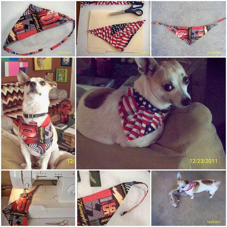 how to make a dog bandana with words