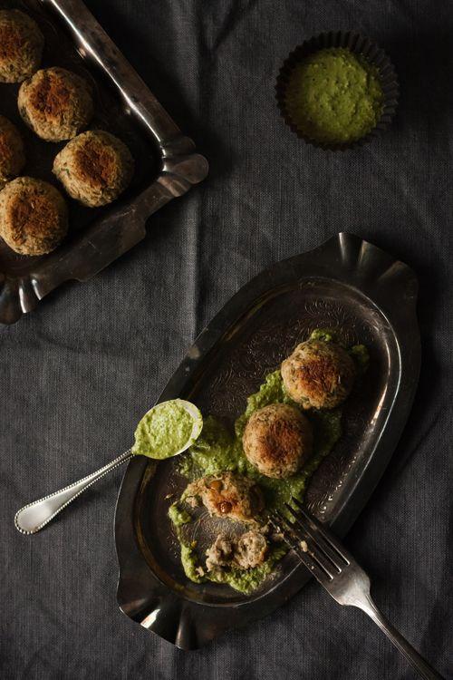 Lentil meatballs and lemon pesto | christelle is flabbergasting