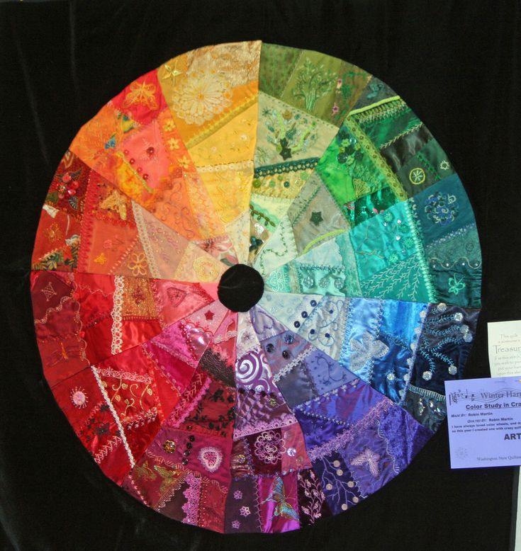 I crazy quilting embroidery washington state - Show color wheel ...