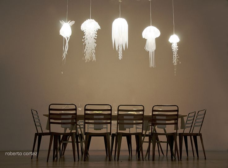 An array of jellyfish lamps. Nothing makes as much impact in a