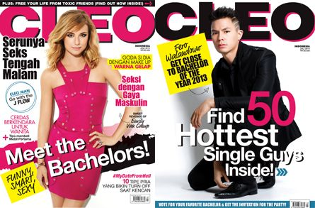 CLEO Indonesia July 2014 - #EmilyVanCamp + CLEO 50 Most Eligible Bachelors 2014 as back cover - #FeroWalandouw