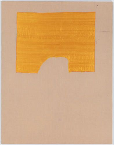 SERGEJ JENSEN Untitled, 2011  Silk on burlap  98 7/16 x 76 3/4 inches  Courtesy Anton Kern Gallery, New York