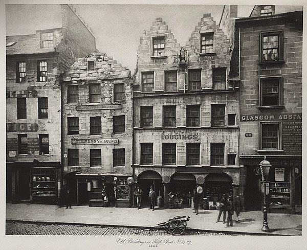Old Buildings in High Street, No 17 - 27 Thomas Annan 1868