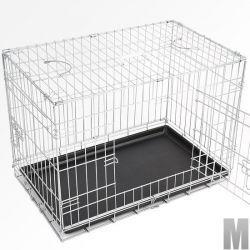 Koirahäkki M, 69,95€. Tämä häkki on kevyt, tukeva ja käytännöllinen. Helppo kuljettaa ja se takaa turvan koirallesi. Ilmainen toimitus! #koirahäkki #koirankuljetushäkki