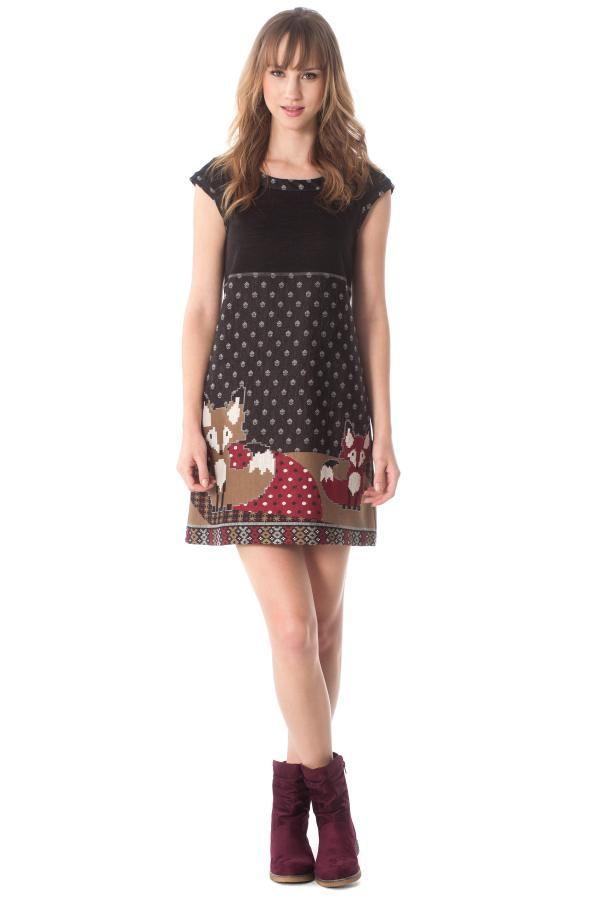 Φόρεμα μίνι με ψηφιακό τύπωμα