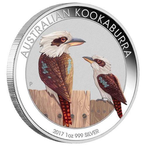 World Money Fair - Berlin Coin Show Special 2017 Australian Kookaburra 1oz Silver Coloured Coin | The Perth Mint
