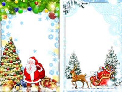 Marcos de Navidad para niños. Fotomontajes Navideños Infantiles