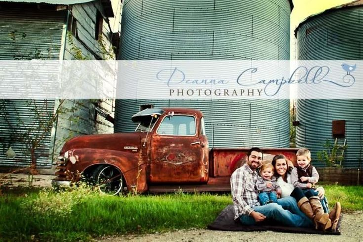 family picture with the old truck - The 1947 - Present Chevrolet & GMC Truck Message Board Network