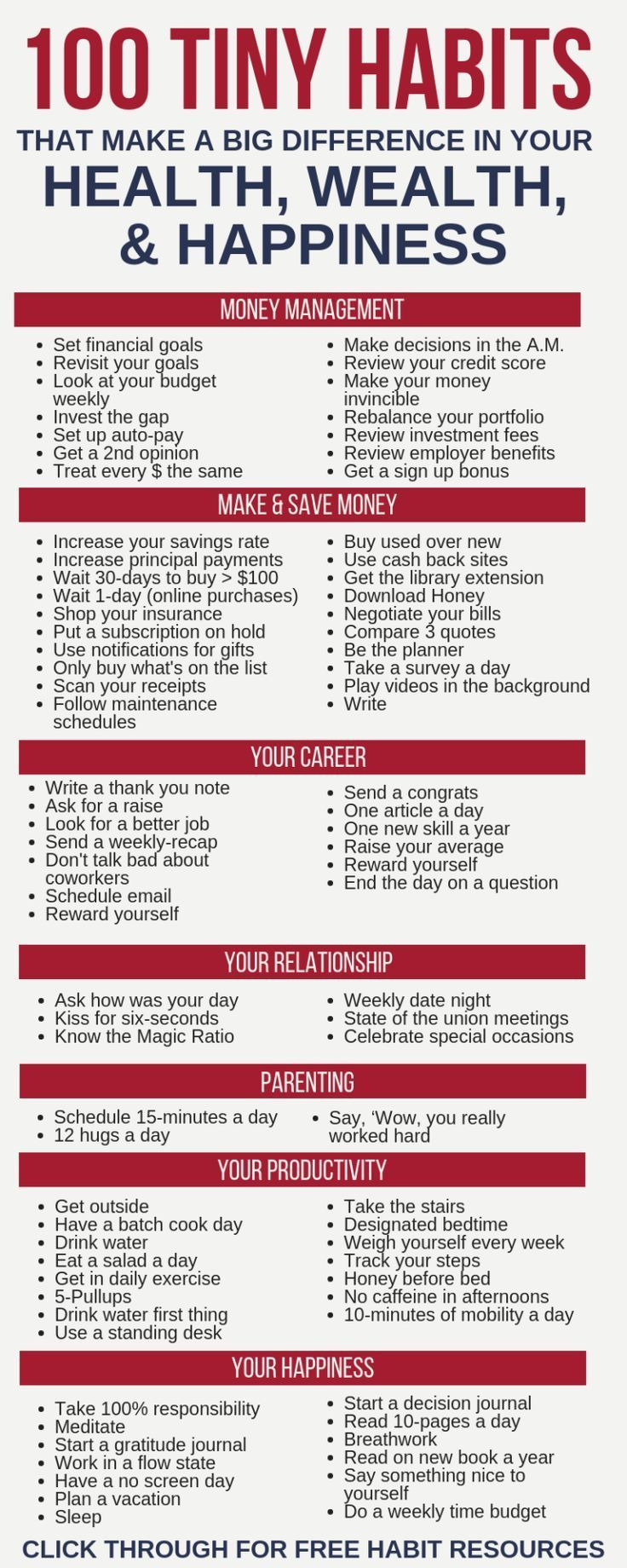 100 Tiny Habits That Make A Big Difference In Your Life The ultimate list of 100… – wedding