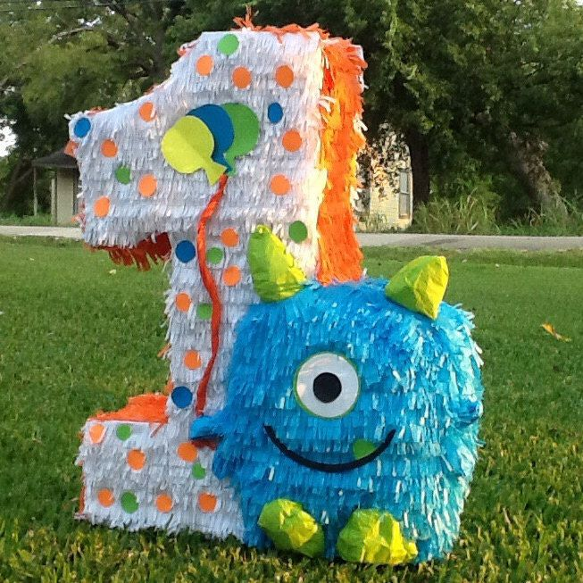Cool Monster pinata number pinata ft number birthday pinata by Mylittlesofy on Etsy https