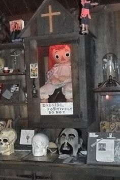The haunted home of Annabelle the evil doll and other occult artifacts!  This is a creepy place.