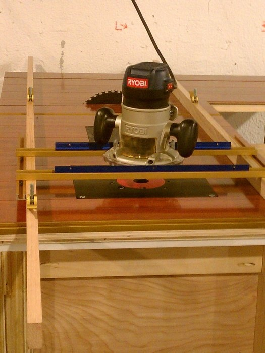 Router ski jig.