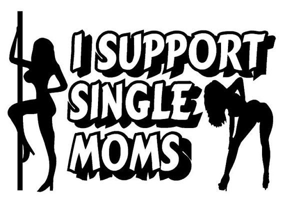 I support single moms decal by DecalSourceShop on Etsy