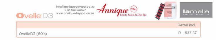 Lamelle Ovelle Get your Lamelle products at Annique Day Spa  info@anniquedayspa.co.za 012 654 0602/7 www.anniquedayspa.co.za